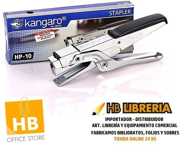 ABROCHADORA KANGARO HP-10 PINZA CROMADA ALEMANA