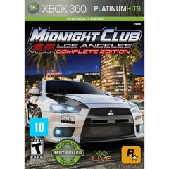 MIDNIGHT CLUB LOS ANGELES COMPLETE EDITION ROCKSTAR - X360