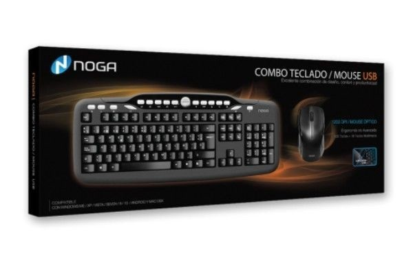 Kit Teclado + Mouse USB Noga