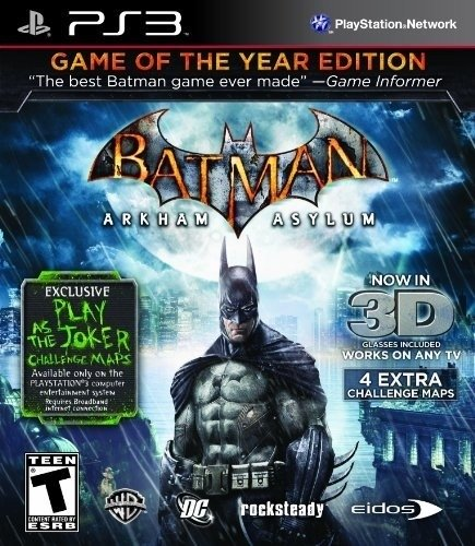 Batman: Arkham Asylum Game of The Year PS3