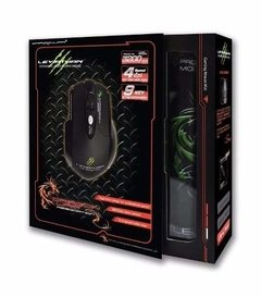 Mouse Gamer Elephant Dragonwar Leviathan 3200dpi + Mouse Pad