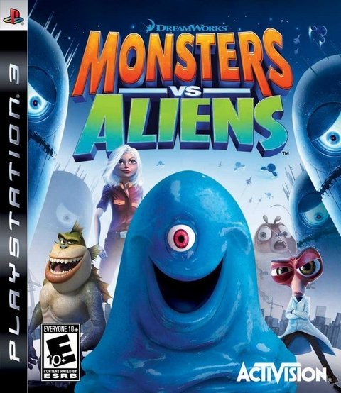 Monsters vs Aliens USADO PS3