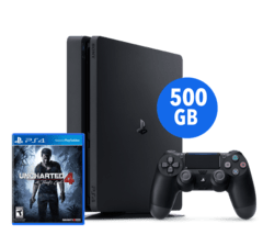 Sony PlayStation 4 Slim 500GB - Uncharted 4 Bundle