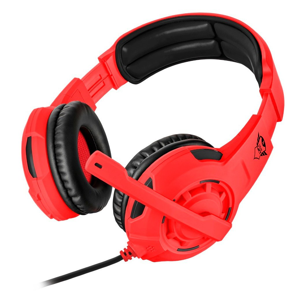 Gaming Headset Trust Gxt 310 Spectra Colores Fluo Rojo