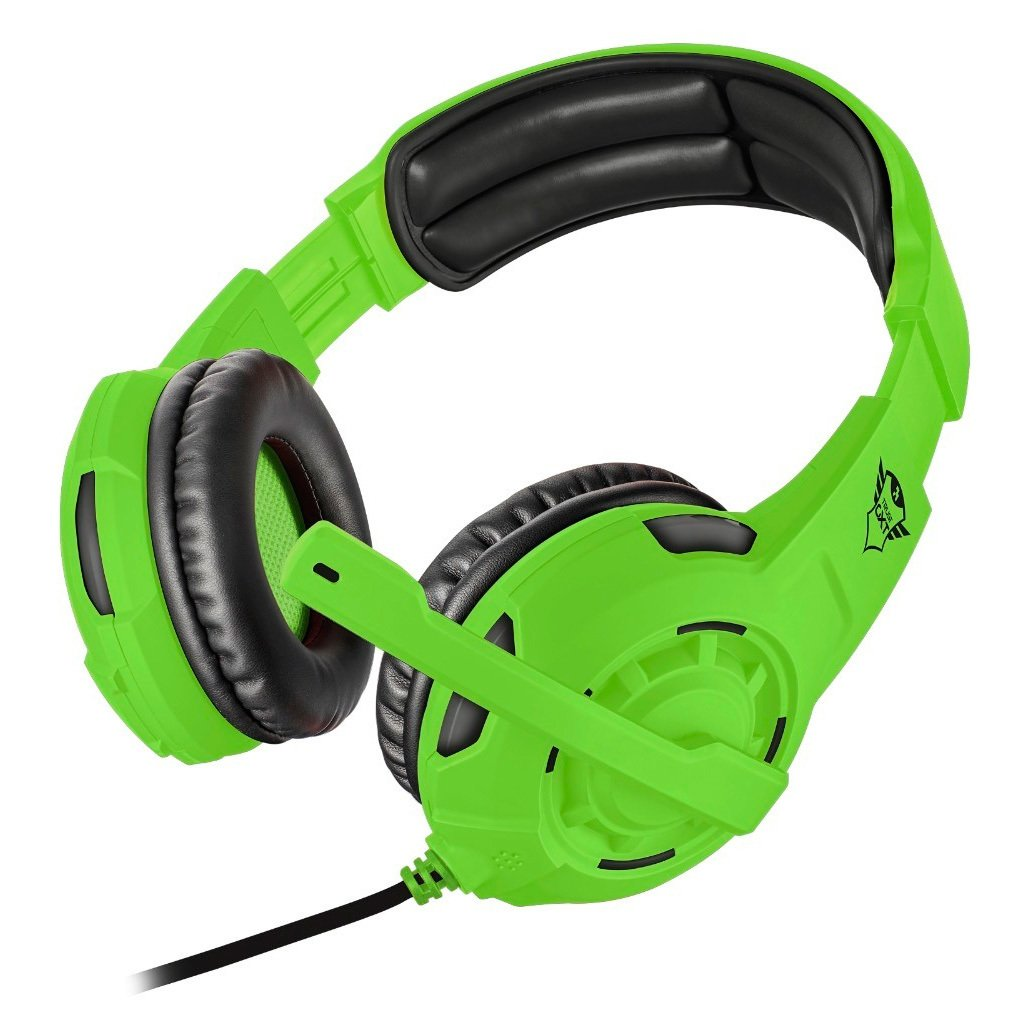 Gaming Headset Trust Gxt 310 Spectra Colores Fluo Verde