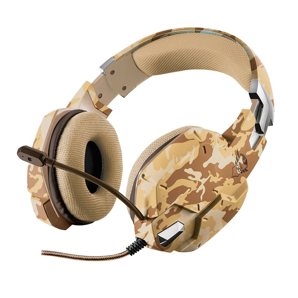 Headset Gaming Trust GXT 322D Carus - Desert Camo