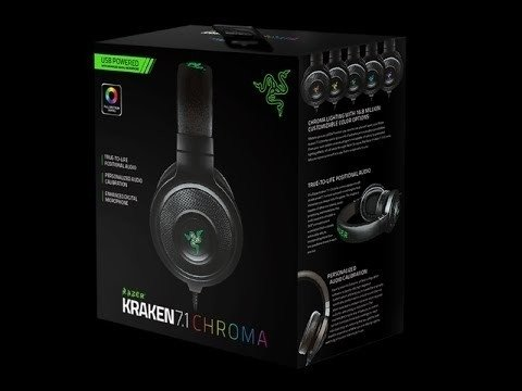 Headset Razer Kraken 7.1 Chroma - For Gamers