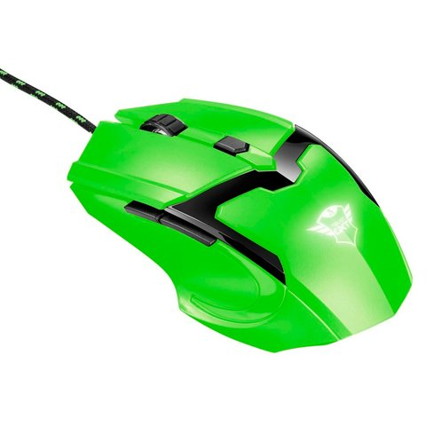 Mouse Trust Gaming Gxt 101 Spectra Iluminado 4800 Dpi Verde - For Gamers