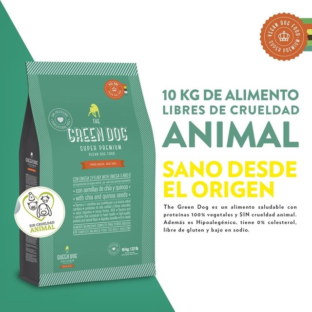 BOLSA DE 10 KG THE GREEN DOG MORDIDA PEQUEÑA - ADULTO -