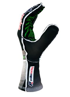 Luvas de Kart XR1000 Preta Super Grip com Silicone e Dedo Touch Screen - Pailler Racing