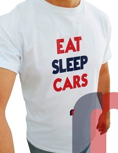 F103 CAMISETA EAT SLEEP CARS