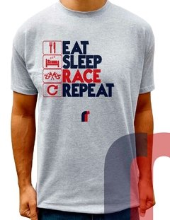 F108 CAMISETAS EAT SLEEP RACE REPEAT - comprar online