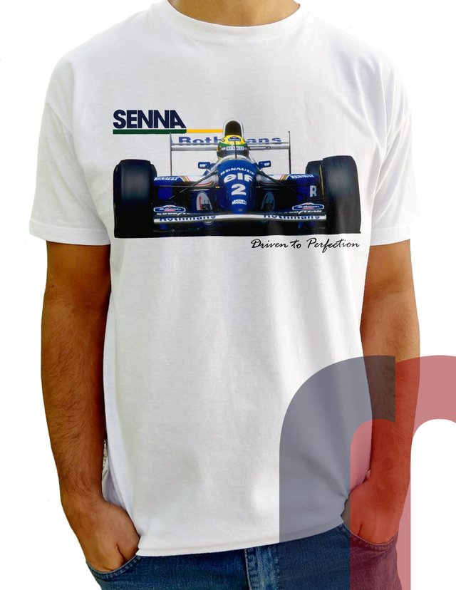 CN10 Camiseta Williams Senna Frente e Verso - comprar online