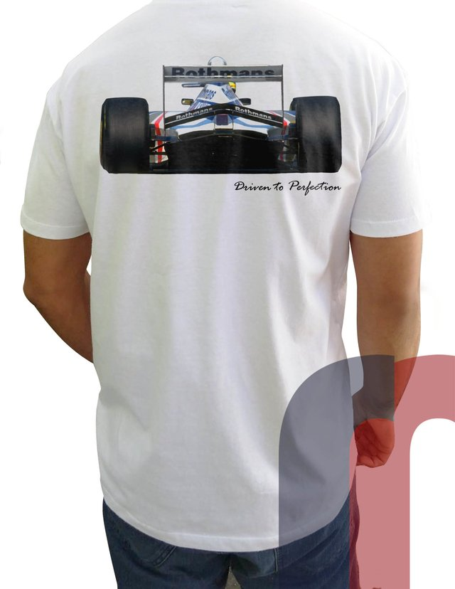 CN10 Camiseta Williams Senna Frente e Verso na internet