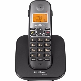 Telefone Sem Fio Intelbras TS 5120 Preto com Display e teclado luminosos