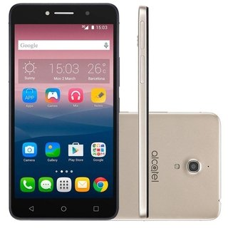 Smartphone Alcatel Pixi 4 8050E, Quad Core, Android 5.1, Tela 6´, 8GB, 13MP, Dual Chip, Desbloqueado - Dourado