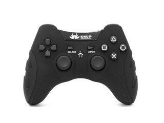 CONTROLE PS1/PS2/PS3/PC KNUP KP-4032 WLESS Preto