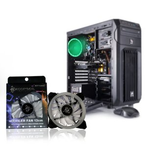 Cooler Fan Hoopson GT120C Games Evotion 120mm com LED RGB que Muda de Cor