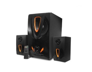 Caixa Som Hoopson CX-PC016 System 2.1 Bluetooth Subwoofer 35W RMS SD USB FM