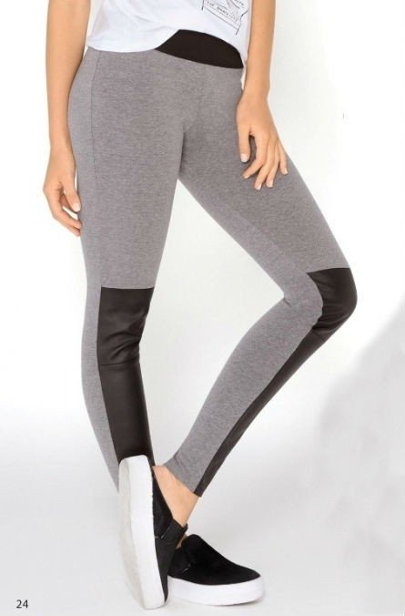 Art. 110124 Leggings tiro alto con cuero