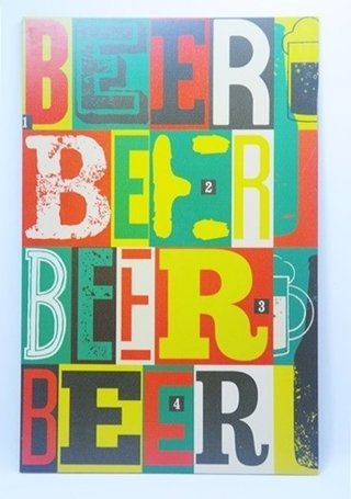 Placa decorativa Color Beer