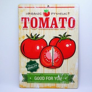 Placa Decorativa Tomate Organic