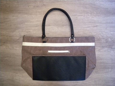 BOLSO DE PLAYA - CHOCOLATE/BLANCO - LIVE, LOVE & TRAVEL en internet