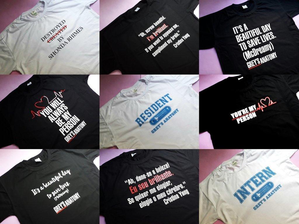 Fotos de Camisetas e Babylooks de Grey s Anatomy - Leia a Descrição ebdd8300f0bf4