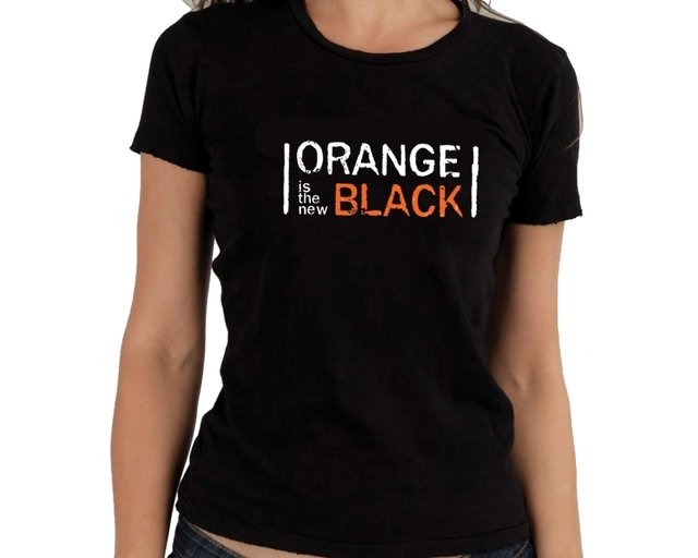 Camiseta Orange is the new black logo na internet