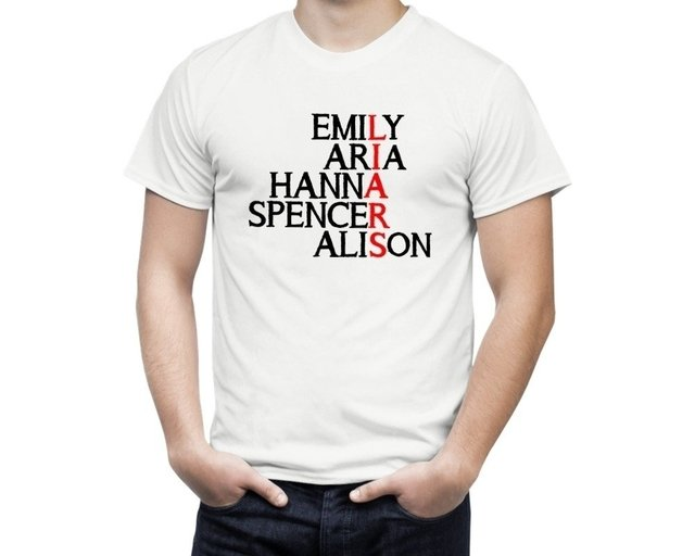 Camiseta Pretty little liars nomes - comprar online