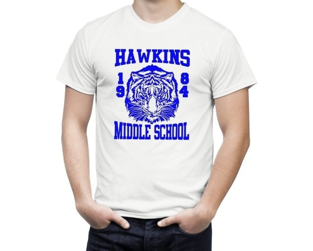 Camiseta Stranger Things Hawkings Middle School