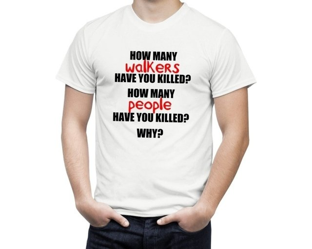 Camisa The Walking 3 questions na internet