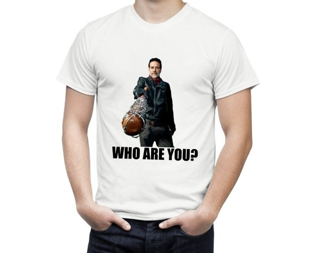 Camiseta The Walking Dead Negan Who are you? - comprar online