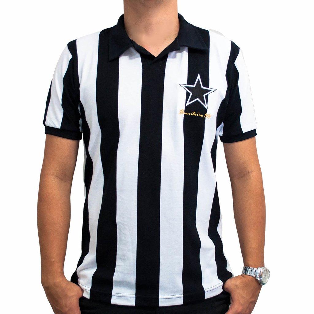 e4b2f7ee5e Camisa Retrô Alvinegro 95