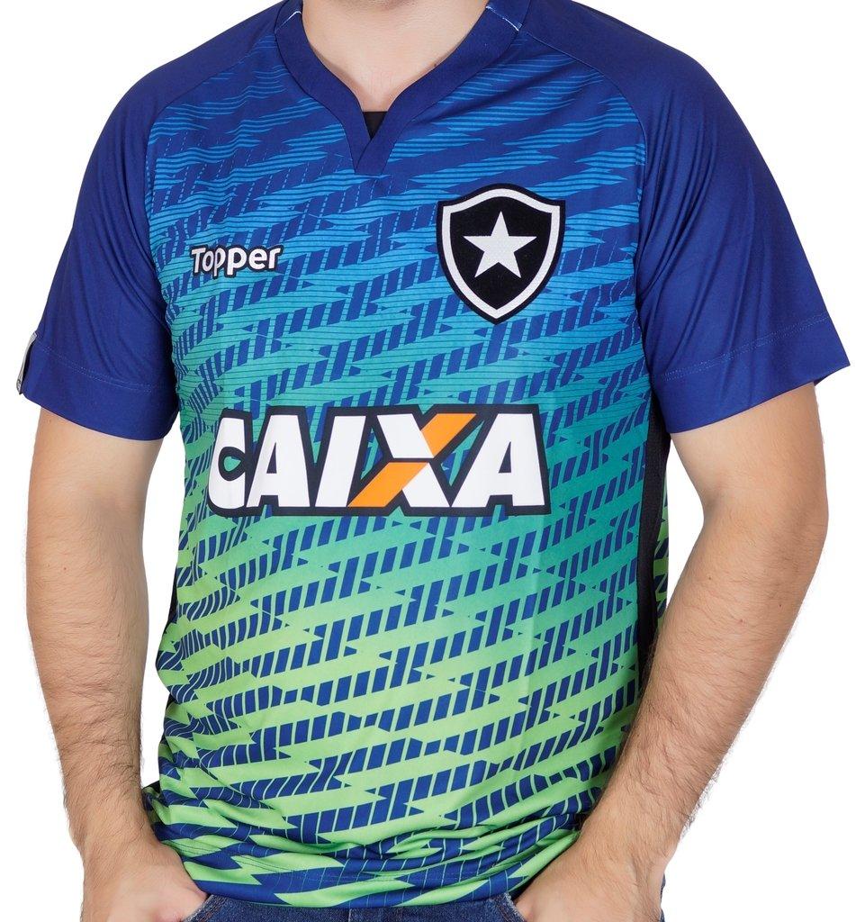 7f2843460f460 Camisa Botafogo Goleiro 1 com Patrocínio 2017 Topper
