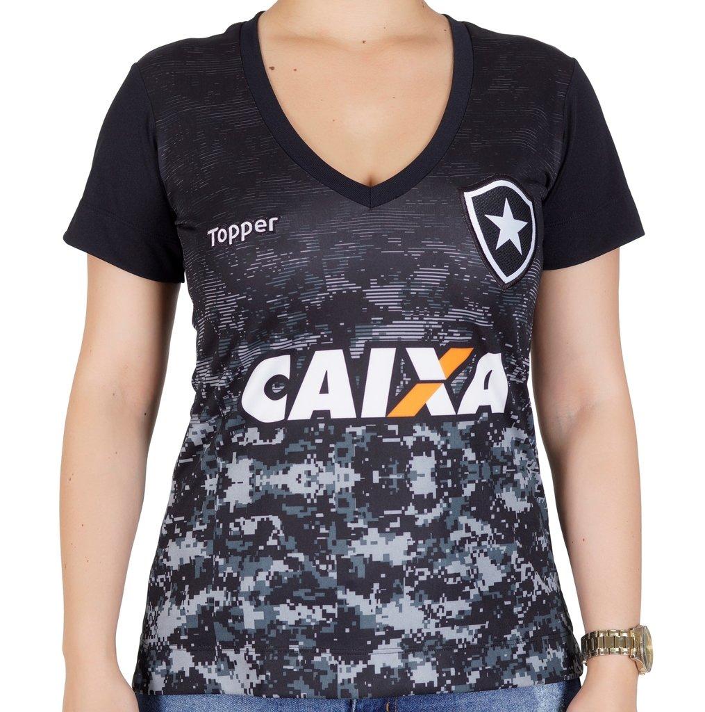 b8b567f54a7c9 Camisa Botafogo Aquecimento Feminina
