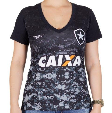 Camisa Botafogo Feminina Rosa 2017 31463fe08e0