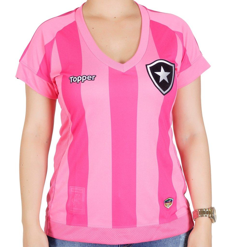 d8e1d861f1 Camisa Botafogo Feminina Rosa Topper 2017