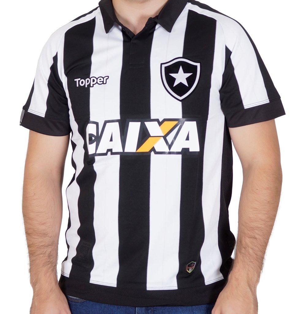 Camisa do Botafogo Home Patrocínio 2017 Topper 52585de72b550