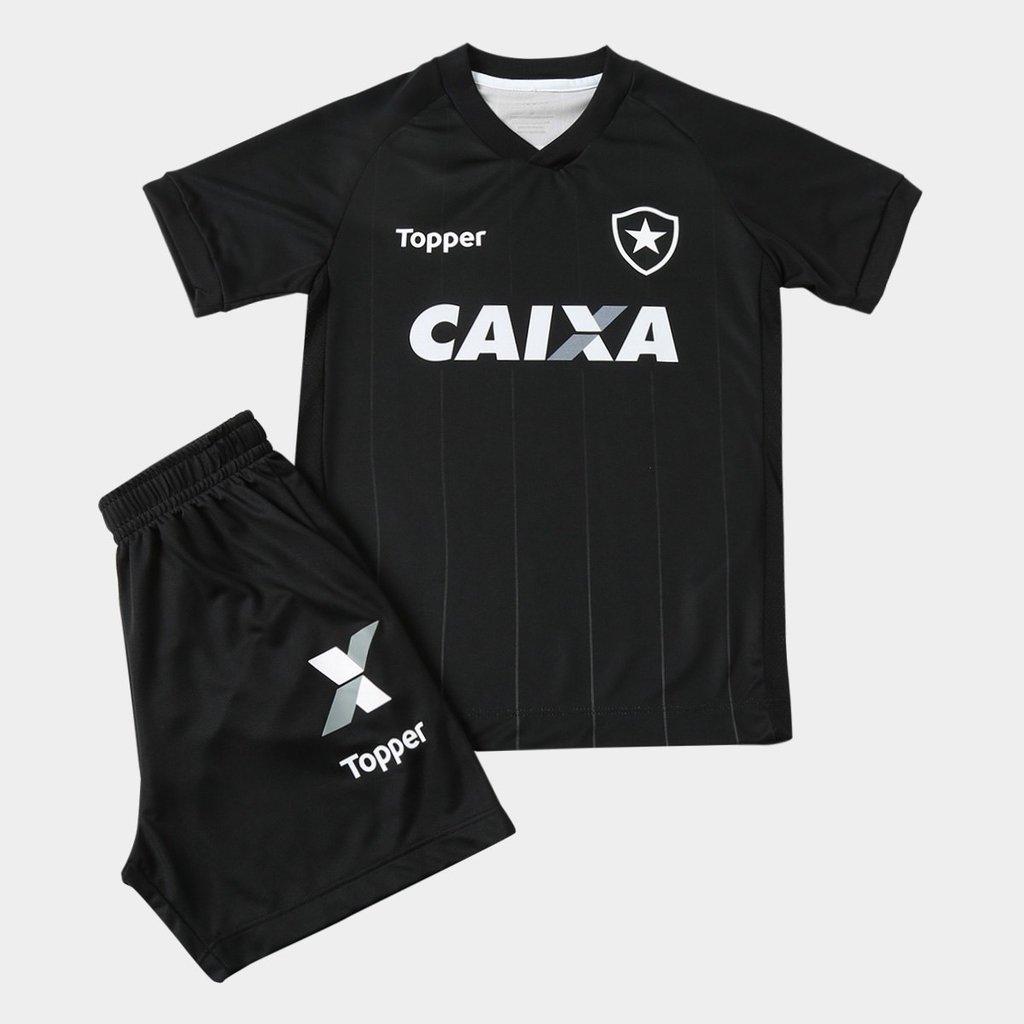 Camisa Botafogo Infantil Preta 2018  286d8dc46e4a3
