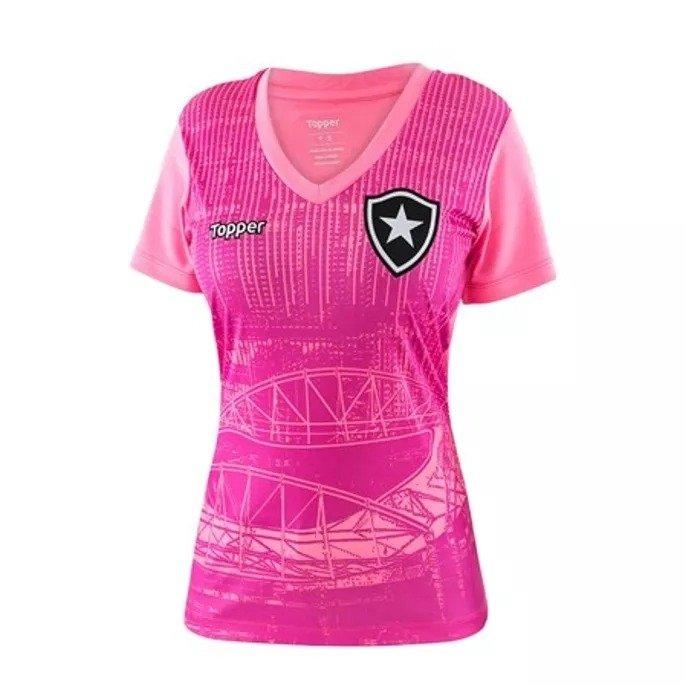 e64ff6e7a6 Camisa Botafogo Rosa Aquecimento