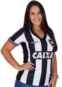 Camisa Botafogo Feminina Listrada 2018
