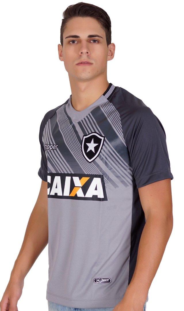 Camisa Botafogo Goleiro Cinza 2018 Topper a1aa945cc4f03