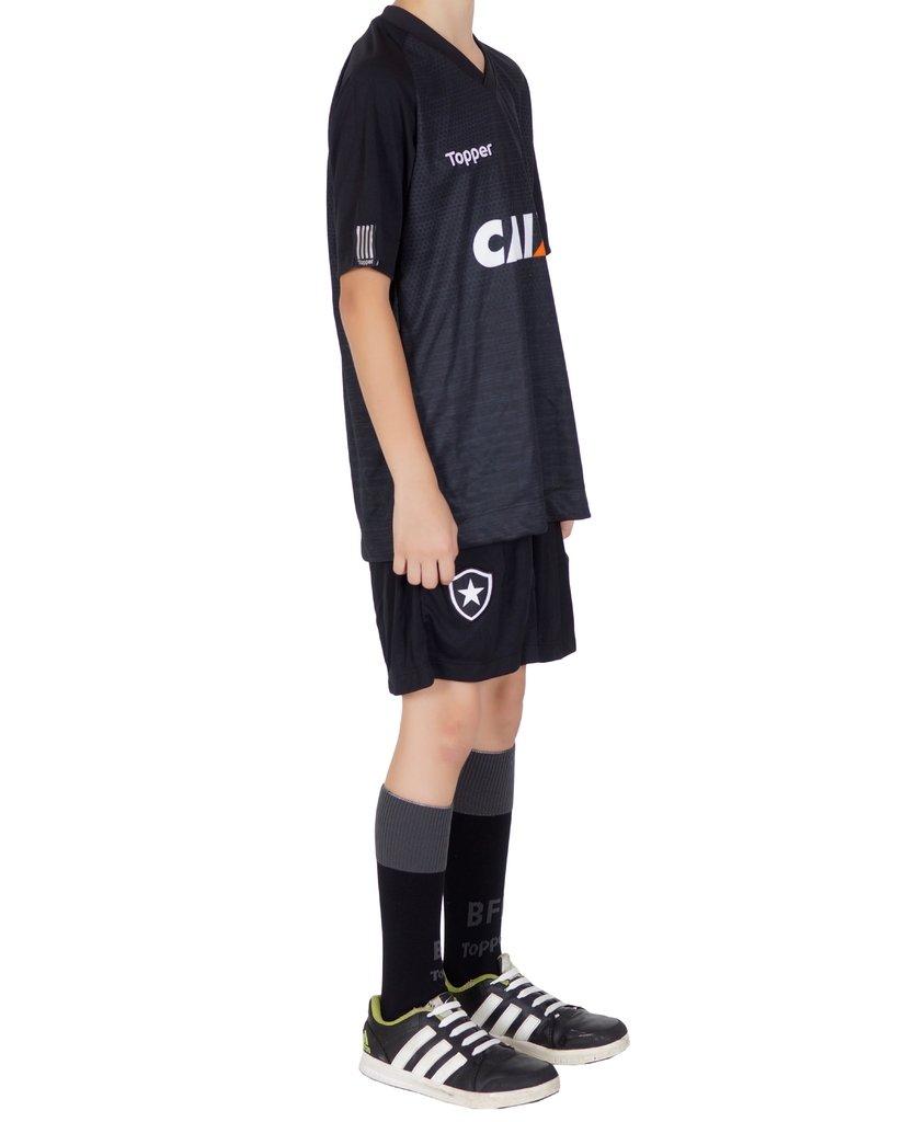 898b07d3a2 Uniforme Botafogo Infantil Preto. 1