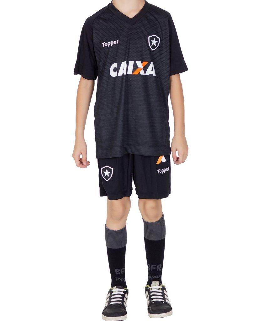 4995fcc7d4 Uniforme Botafogo Infantil Preto