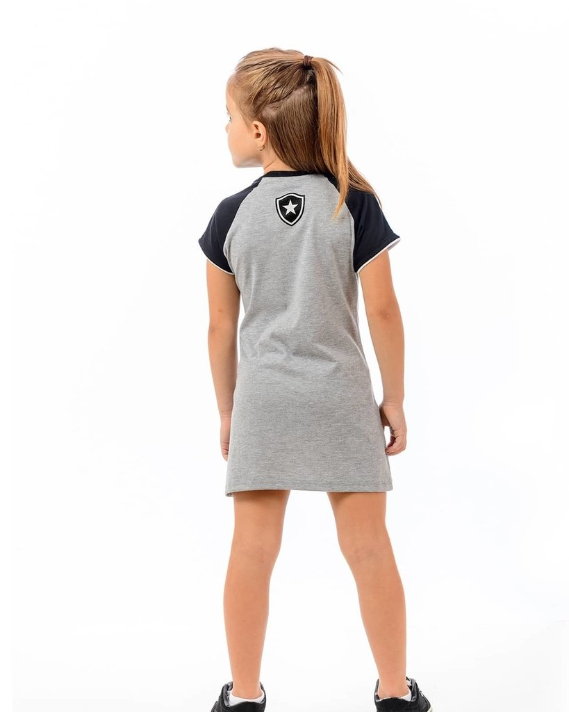 9fc910bb6ba01 Vestido Botafogo Infantil Braziline