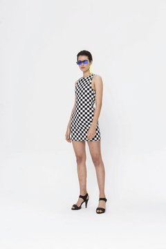 CHECKERBOARD KENSHI DRESS