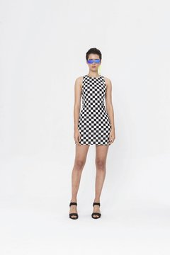 CHECKERBOARD KENSHI DRESS - buy online