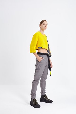 BINGLEY CROP SWEATER AMARILLO - comprar online