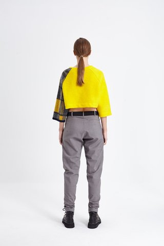 BINGLEY CROP SWEATER AMARILLO en internet